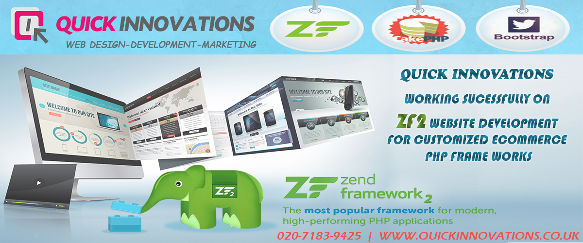 zend framework by quick innovations